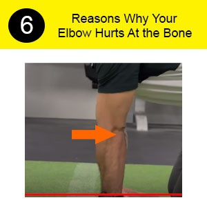 elbow hurts at the bone