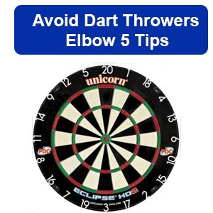 dart throwers elbow