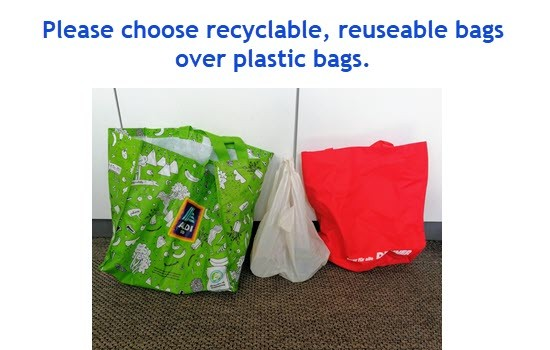 recyclable bags over plastic